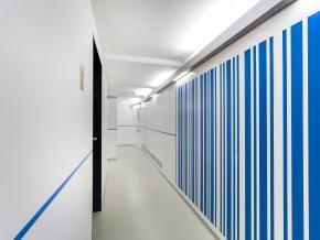 """Barcode """"Augustenstr. 57"""" als Wandgestaltung"""