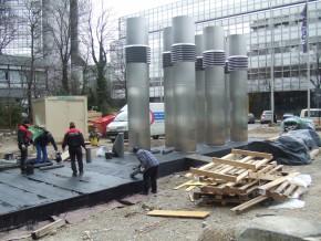 Neubau Lüftungsbauwerk, Abdichtung Decke