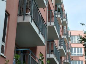 Ansicht Balkone
