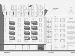 Augustenstraße München, Ost-Ansicht Planung