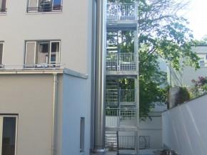 Hohenzollernstraße 9 in München, Rückgebäude mit Feuerleiter