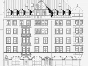Augustenstraße München, Süd-Ansicht Planung