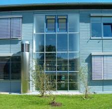 Kläranlage BA II in Starnberg, Treppenhausfassade