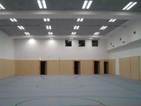 Städt. Berufsschule für Bau- und Kunsthandwerk München, Turnhalle im Untergeschoss